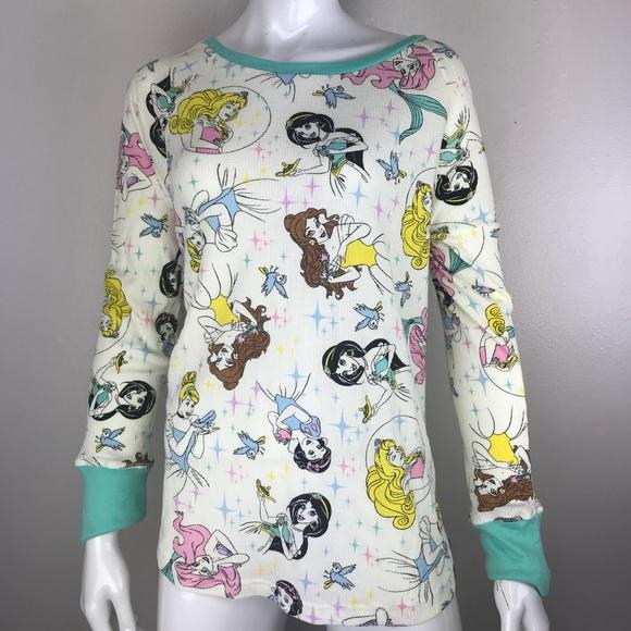 Disney Other - Disney Princess Waffle Thermal Long Sleeve Shirt